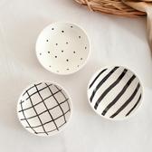 日式手繪調味碟醬料碗家用創意圖案陶瓷碗蘸料碟子餐具小菜碗【八折搶購】