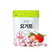 【愛吾兒】韓國 Ssalgwaja 米餅村 乳酸菌優格球-草莓