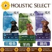 *KING WANG*Holistic select 活力滋 成犬《雞肉│羊肉│三種魚 配方》4磅 狗飼料