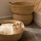 貓窩藤編夏季四季通用磨爪子床屋墊子狗窩夏天網紅寵物幼貓咪用品 端午節特惠