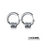 Z-MO鈦鋼屋 白鋼耳環 造型耳環 復古時尚 好友禮物推薦 中性個性風格 單個價【EKS557】