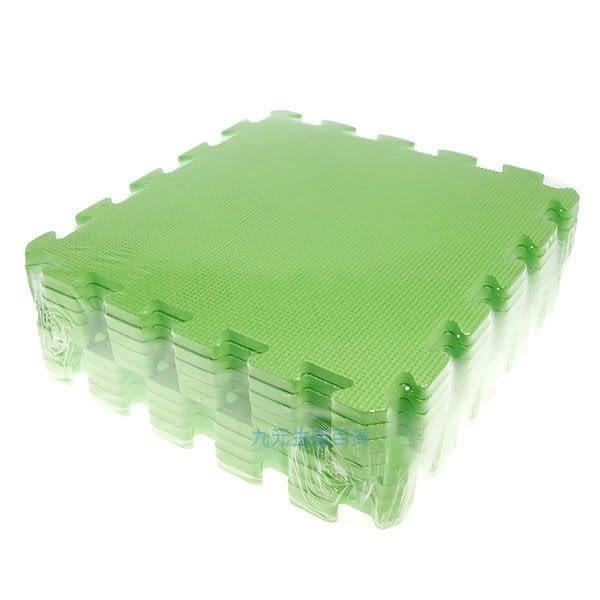 【九元生活百貨】淺綠色彩墊/10入 拼裝地墊 EVA 鋪地 拼板 巧拼