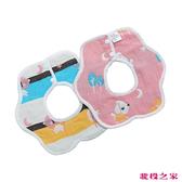六層紗口水巾 三入組 360度吃飯圍兜兜 粉小狗 (嬰幼兒童/寶寶/新生兒/baby)