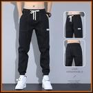 男士牛仔褲子2021年春季新款夏季薄款束腳哈倫學生百搭潮流休閒褲 設計師