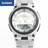 CASIO卡西歐 世界地圖白面鐵錶【NEC22】