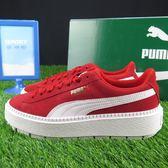【iSport愛運動】PUMA PLATFORM TRACE WNS MU 休閒鞋 36798003 女款 紅