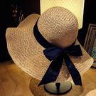 遮陽帽女防曬遮臉出游百搭沙灘帽子海邊大沿草帽韓版太陽帽 格蘭小舖