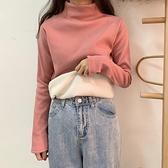 半高領加絨打底衫女秋冬洋氣冬厚款寬鬆加厚長袖保暖冬季內搭上衣 童趣屋