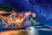 【拼圖總動員 PUZZLE STORY】意大利-五漁村星空 日本進口拼圖/Beverly/風景/300P/夜光