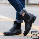 時尚防滑雨鞋男成人防水鞋套鞋馬丁雨靴大碼...