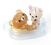 拉拉熊&牛奶熊 /39P/Beverly/懶懶熊/立體透明塑膠/日本進口拼圖