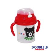 DOUBLE_B 日本製 可愛黑熊吸管學習杯