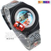 SKMEI時刻美 汽車模型 賽車造型兒童電子手錶 男孩女孩 印花玩具錶 可旋轉汽車 SK1376灰
