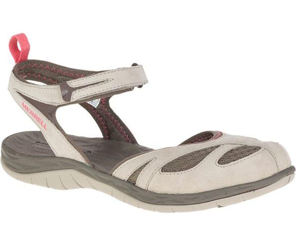MERRELL 女款 SIREN WRAP Q2 水陸兩棲 透氣健走 涼鞋 - 米白 ML37484