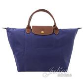 茱麗葉精品【全新現貨】Longchamp Le Pliage 折疊短揹帶肩提包.紫 M #1623