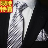 桑蠶絲領帶 男配件-奢華經典商務條紋手打領帶66ae50【巴黎精品】