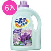 一匙靈 歡馨香氛洗衣精 蝶舞紫羅蘭香 瓶裝 2.4KgX6入