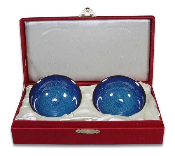 鹿港窯~ 居家開運珍藏~窯變釉茶杯【藍翠玉釉對杯】◆附精美盒