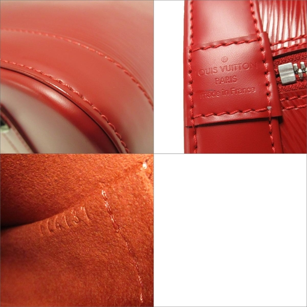 LOUIS VUITTON LV 路易威登 紅色Epi水波紋手提包 貝殼包 Alma PM M4058E【BRAND OFF】