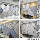 現代簡約線條黑白木紋幾何牆紙北歐電視背景牆8d壁紙影視牆5d牆布 樂活生活館