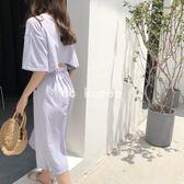 韓國 收腰 露背 小性感 渡假長裙洋裝 CC KOREA ~ Q16389