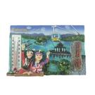 【收藏天地】台灣紀念品*溫度計冰箱貼-日月潭原住民