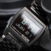 NIXON THE BASE 復古時間旅行電子錶 A1107-001 熱賣中!