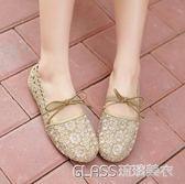 女平跟軟底鞋單鞋平底孕婦鞋豆豆鞋    琉璃美衣