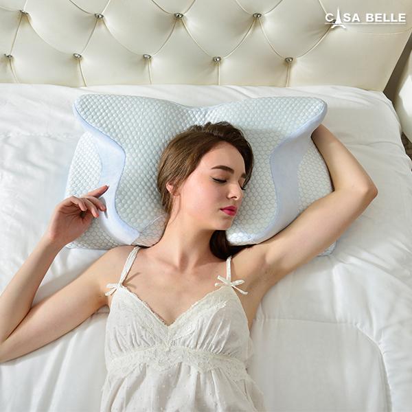 法國Casa Belle《3D護頸人體工學紓壓涼感記憶枕》二入