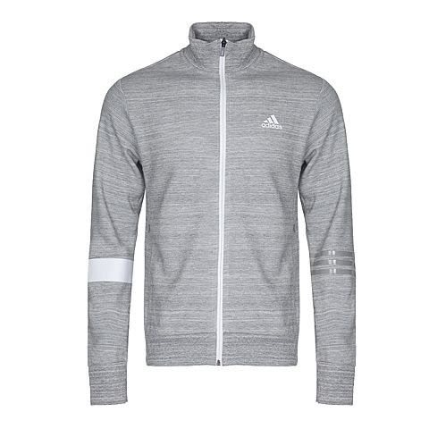ADIDAS SV TT SLOGAN 男裝 立領外套 休閒 舒適 棉質 灰 白 【運動世界】 BR0223