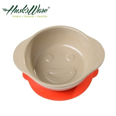 美國Husk's ware 稻殼天然無毒環保兒童微笑餐碗(紅色)