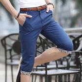 男士七分褲休閒短褲夏季寬鬆五分褲中褲7分褲男夏天男裝5分馬褲潮 沸點奇跡
