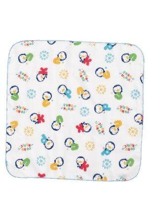 藍色企鵝 PUKU 印花紗布手帕(2入) 26604 好娃娃