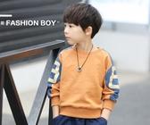 連帽T恤男童連帽T恤韓版兒童打底衫童裝上衣長袖中大童潮款 育心小館