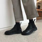 加絨韓版英倫風馬丁靴學生平底靴簡約短靴女靴女鞋秋冬   傑克型男館