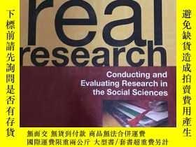 二手書博民逛書店real罕見research:conducting and ev