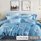 【貝兒居家寢飾生活館】頂級100%天絲鋪棉涼被(侏羅紀150×195cm)