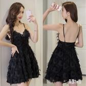 連身裙2019夏新款很仙的氣質小禮服吊帶性感露背夜店女裝洋裝TT3507『易購3c館』