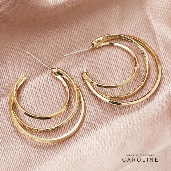 《Caroline》典雅設計優雅時尚品味流行時尚耳環72007