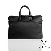 【VOVA】羅馬系列型男款公事包(簡約黑)VA115S02BK