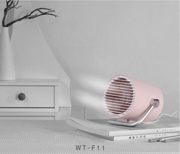 【保固一年 迷你桌扇 】 圓筒 USB 靜音 雙扇葉設計 觸控按鈕 兩段風速 便攜 小風扇 宿舍 辦公室