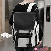 後背包 2021新款書包高中生大容量結實日系學生韓版女潮牌男士後背包 小天使