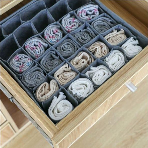 竹炭30格抽屜收納 內褲收納 襪子收納 小物收納 摺疊收納 居家收納【RS932】