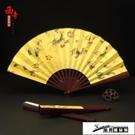 古風折扇 扇子折扇中國風古典漢服男式隨身摺疊扇復古手工藝特色禮品送老外 酷男