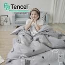 #HT032#絲柔親膚奧地利TENCEL天絲6x6.2尺雙人加大舖棉兩用被床包四件組-台灣製(限2組超取)