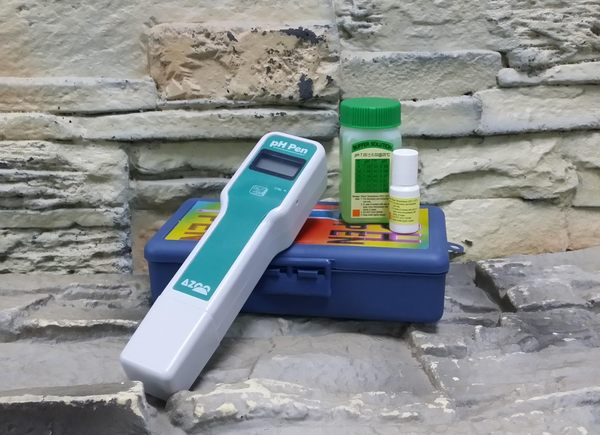【西高地水族坊】AZOO 可攜式酸鹼值PH測試筆(ph筆)伸縮式