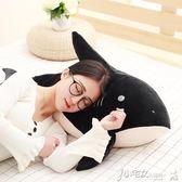 抱枕 超軟鯊魚公仔韓國搞怪懶人睡覺抱枕可愛大白鯊毛絨玩具女生玩偶萌 小宅女