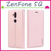 Asus ZenFone 5Q 6吋 ZC600KL 韓曼素色皮套 磁吸手機套 可插卡保護殼 手機殼 掛繩保護套 支架 錢包款