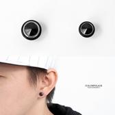耳環 黑色單鑽磁鐵鋼製耳環ND647