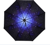星空小黑傘晴雨傘兩用折疊創意太陽傘女遮陽傘防曬紫外線